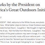 America's Great Outdoors Initiative and Report - Bravo!
